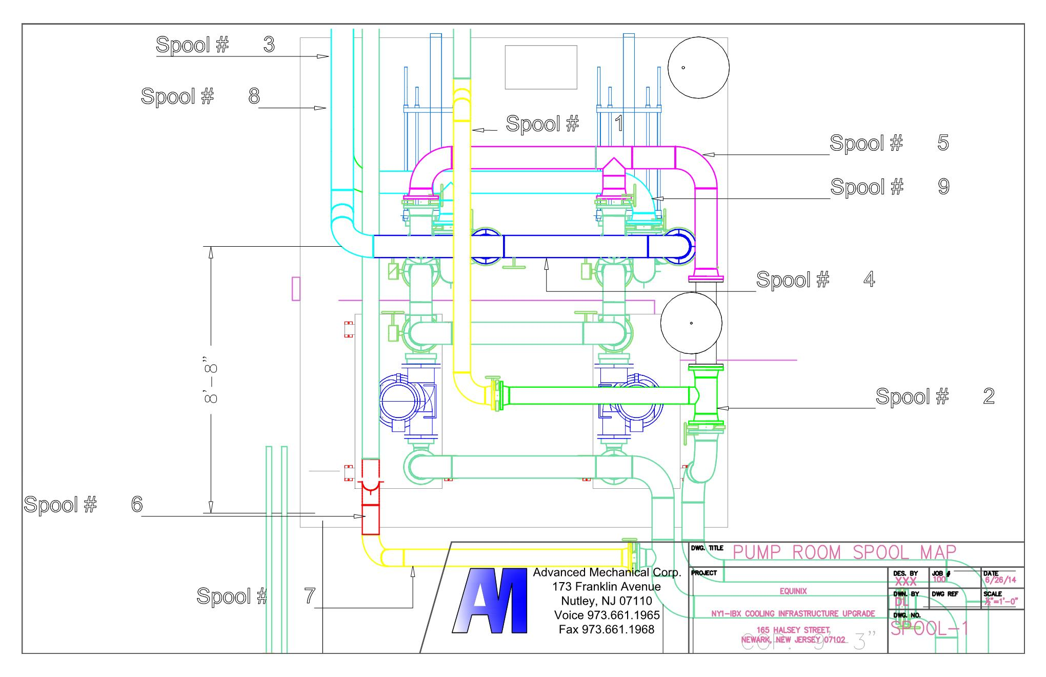 Bim0 Autocad Drawing Expertise Advanced Mechanical Corp Amc Hvac Piping Other