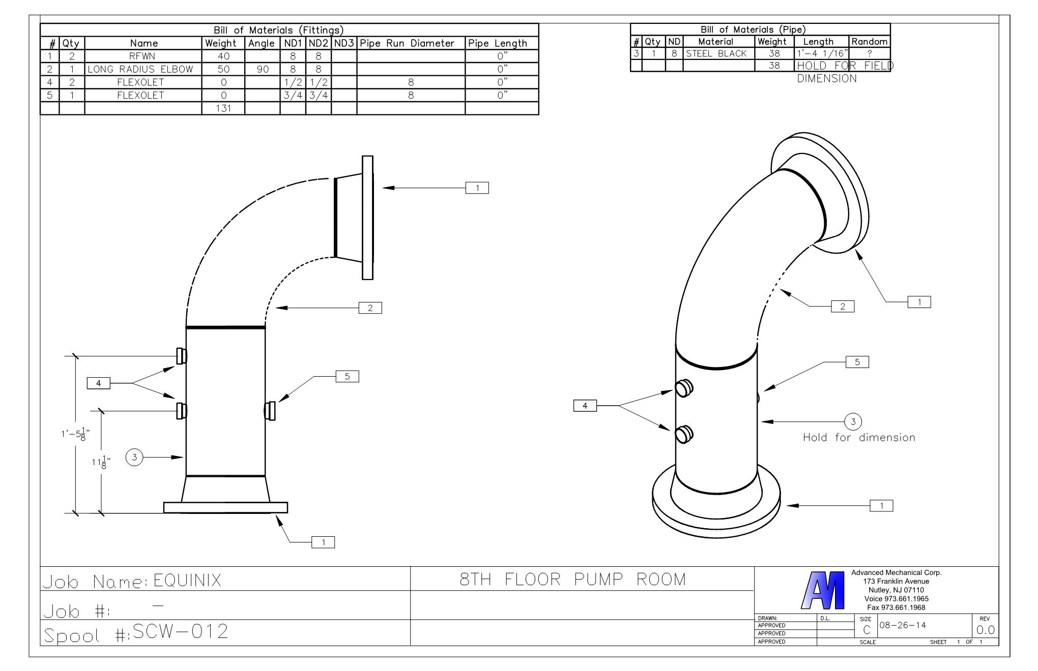 bim0 autocad drawing expertise advanced mechanical corp. Black Bedroom Furniture Sets. Home Design Ideas