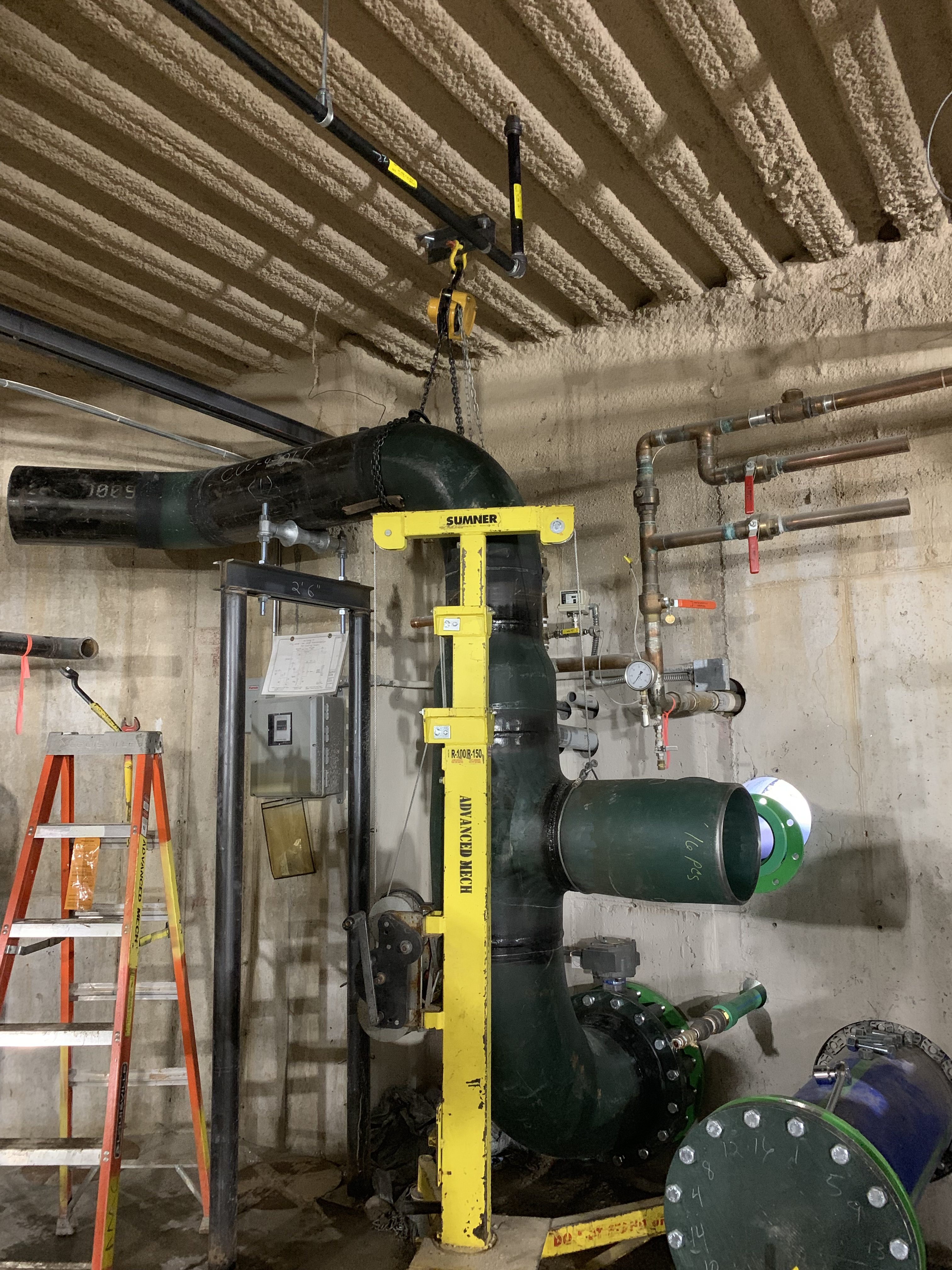 Welded_Fabricated_Pipe_connect_to_Aquatherm_Plastic_Pipe_Advanced_Mechanical_Barclays
